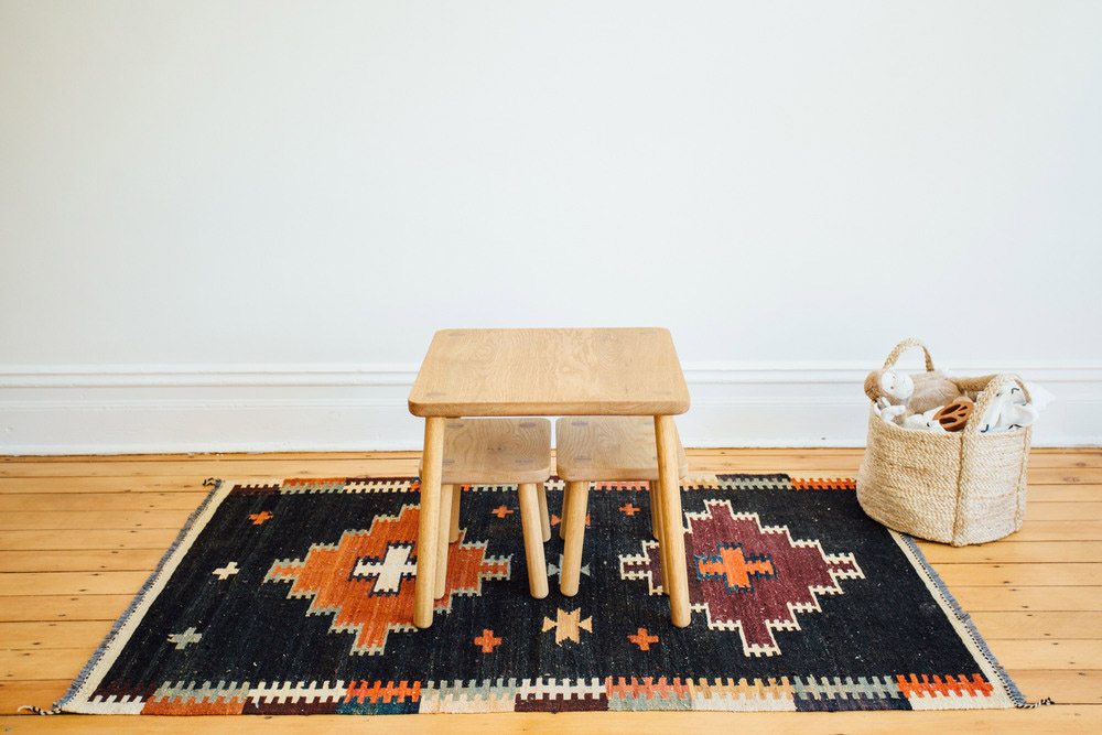 Kids Timber Tables and Stools Play Setting