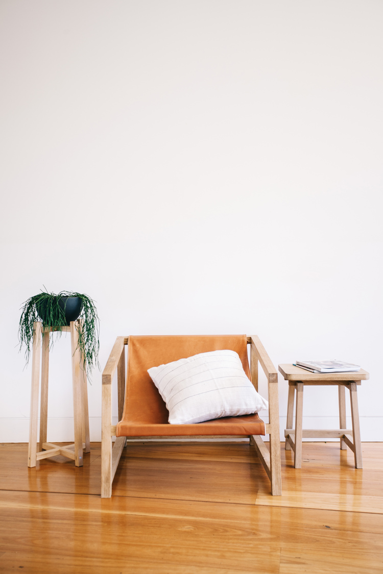 Timber Plant Stands & Lo Chair - JD Lee Furniture