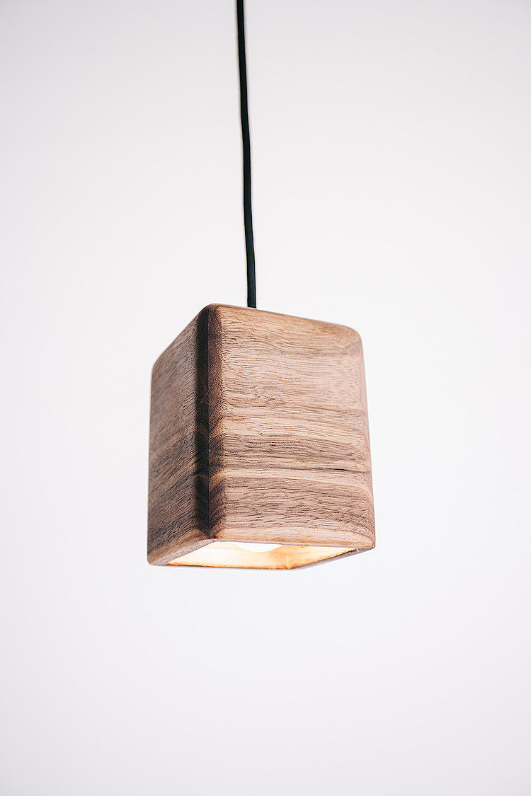 bodhi pendant light medium american oak walnut timber tlp