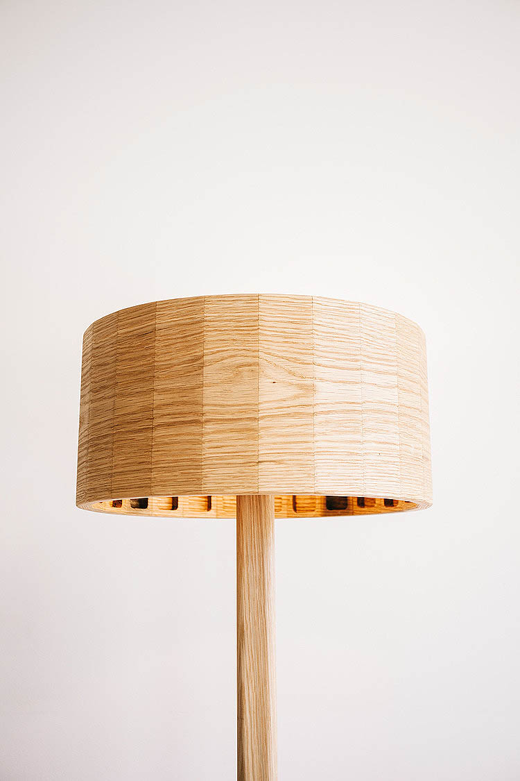 Moki Wooden Floor Lamp - Unique Timber Lighting Designs - TLP