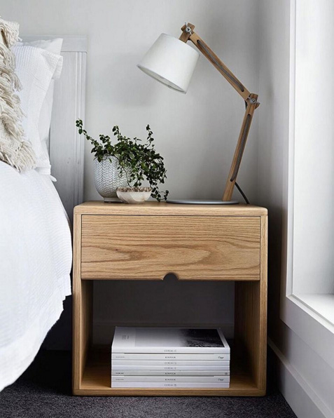 Solid American Oak Bedside - Table Designs - Made By Morgen