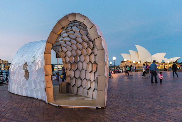 Cellular Tessellation in front of the Opera House