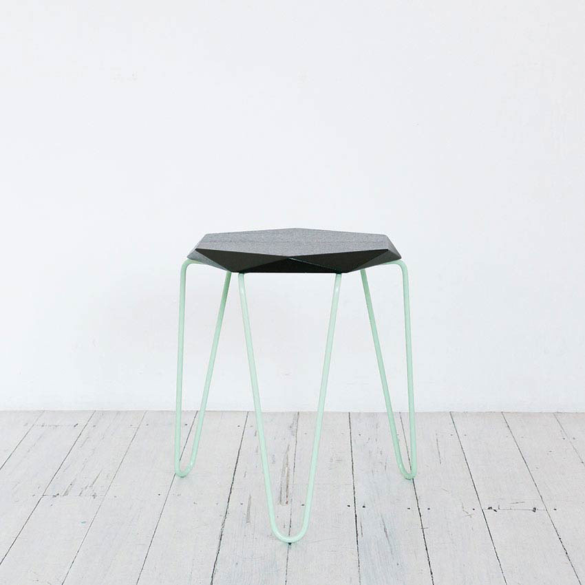Klein Stool - Low-Stool Designed & Made By Melbourne-based TUCKBOX - Gem or Lozenge Shape - Image For Gallerie