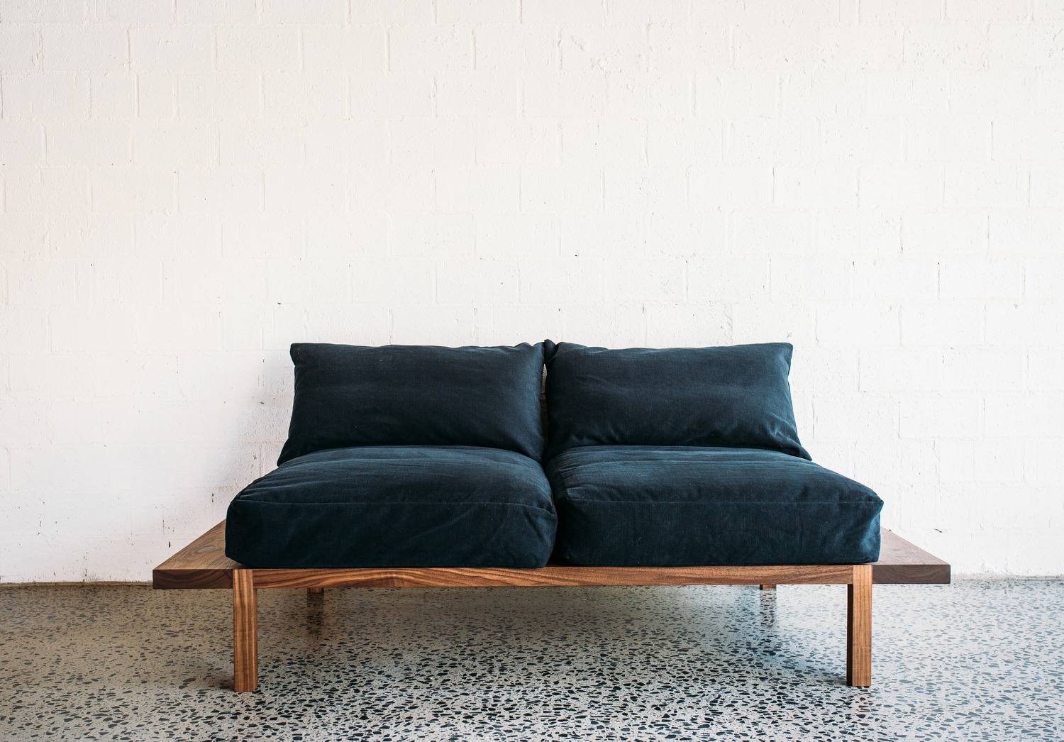 Finley Sofa - Two Seater - JD.Lee Furniture - italian dark blue upholstery