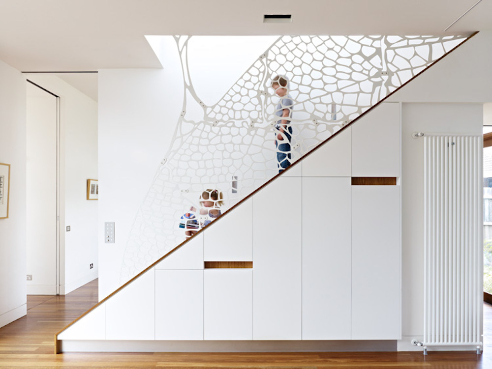Timber Interior Stairwell Dining Room Australian Architecture - Clifton Hill - Steffen Welsch Architects 12