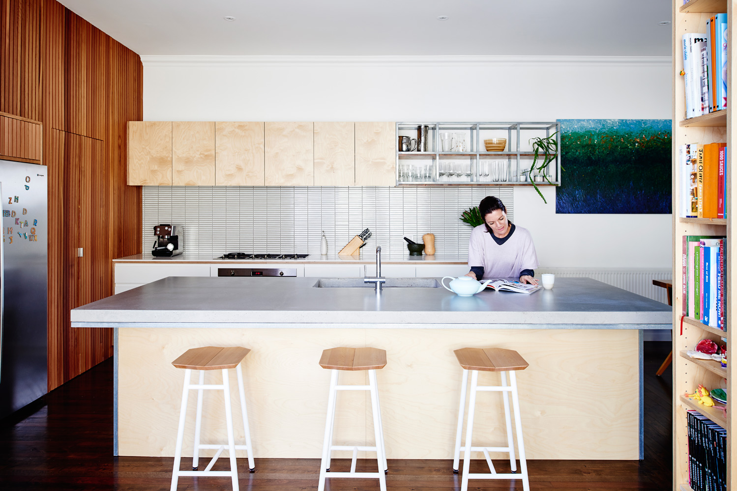 Brighton East Interior - Australian Timber Detailing Kitchen - Dan Gayfer Design - Interior Archive