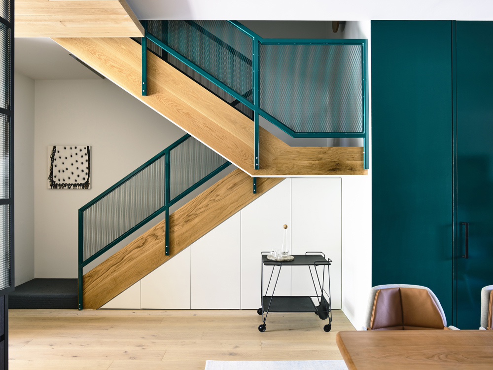 Doherty Design Studio - Australian Timber Stairs - Fitzroy Residence - Interior Design Archive