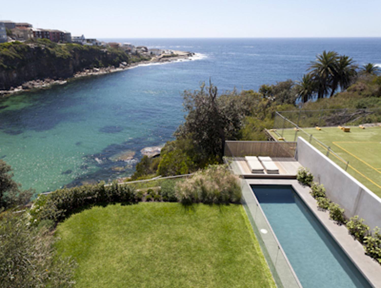 Gordon's Bay House - Local Ocean View Garden Pool Aerial - Madeleine Blanchfield Architects - Architecture Archive