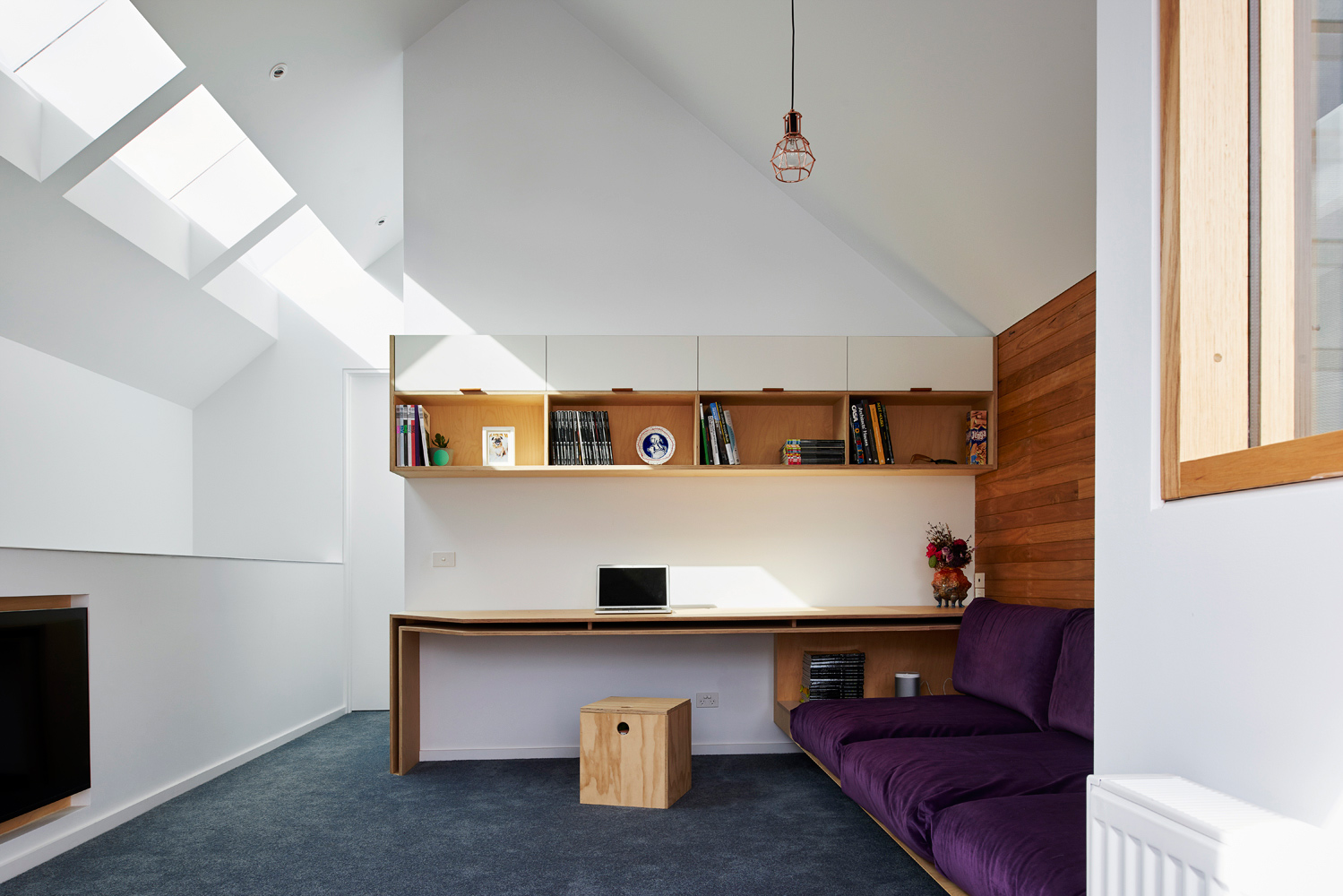 High House - Australian Timber Storage Study Desk -Dan Gayfer Design - Interior Archive