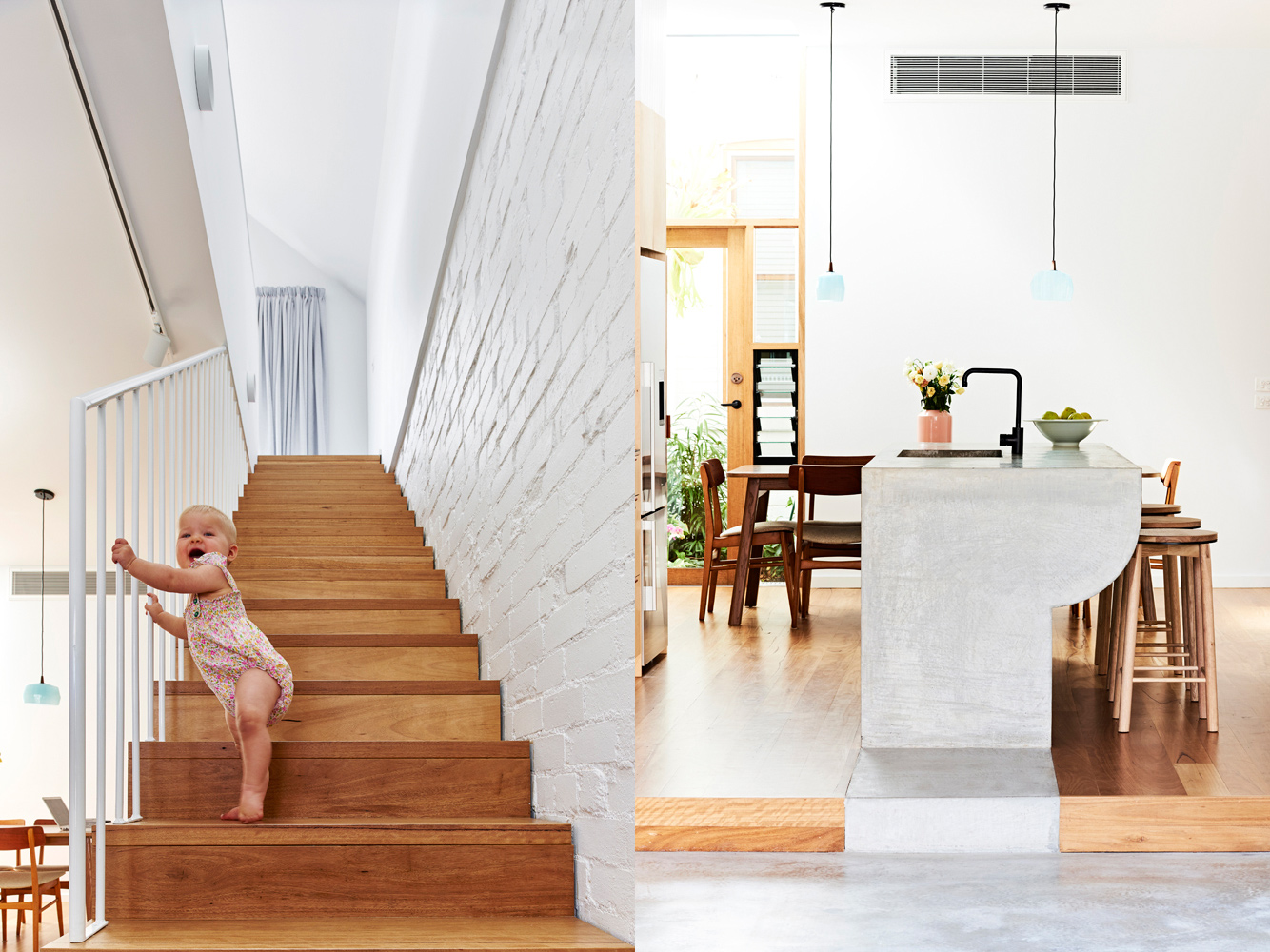 High House - Local Stairwell Timber - Dan Gayfer Design - Interior Archive