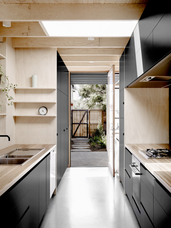 Interior Shot of kitchen cabinetry and layout - Nothcote, Victoria Australia