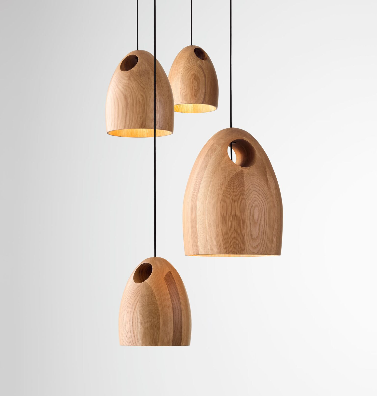 oak pendant light by ross gardam design archive lighting designer