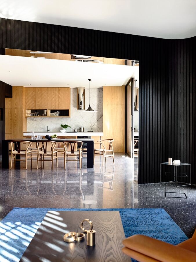 Kitchen and living room - Australian Architecture - Pandolfini Architects