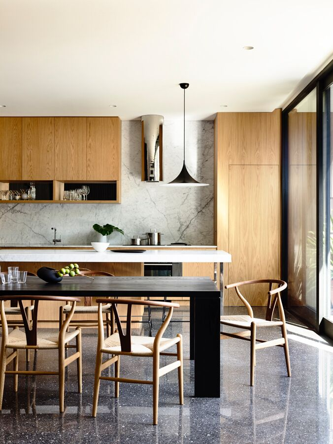 Dining table and kitchen - Pandolfini Architects - Melbourne, VIC, Australia