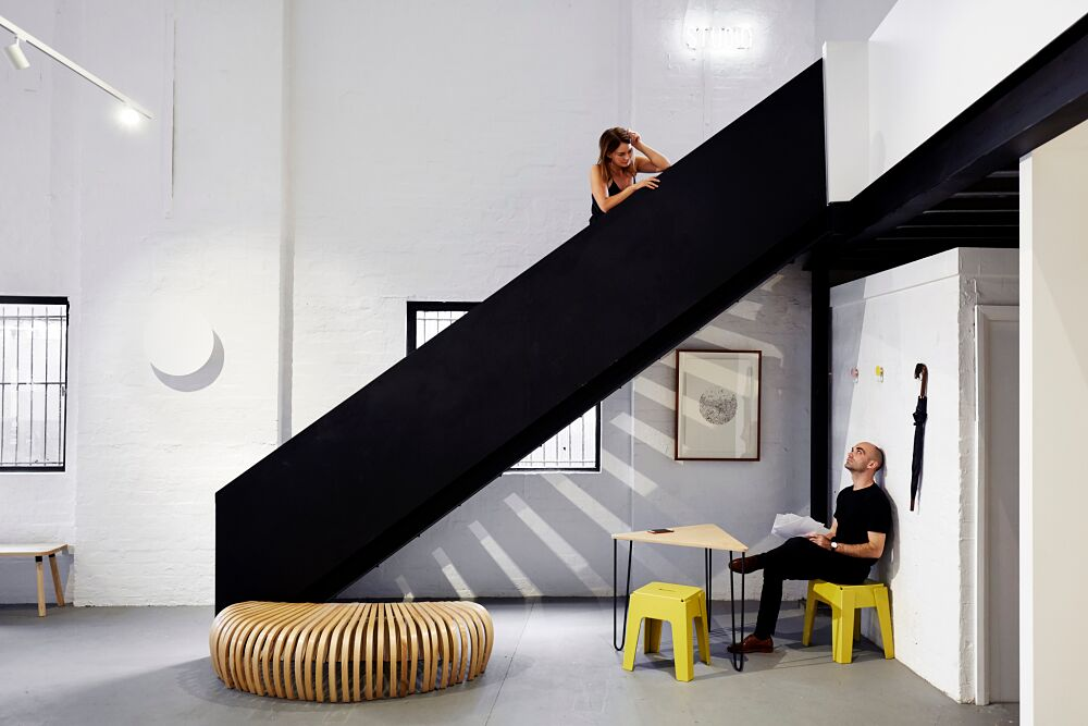 Founding designers Sarah Gibson and Nick Karlovasitis. Image- Michael Wickham - The Local Project