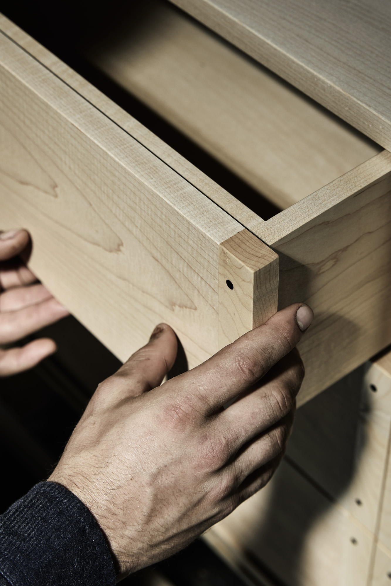 Woodworker Detailing Wood Furniture - Designer Maker Daniel Poole - The Local Project