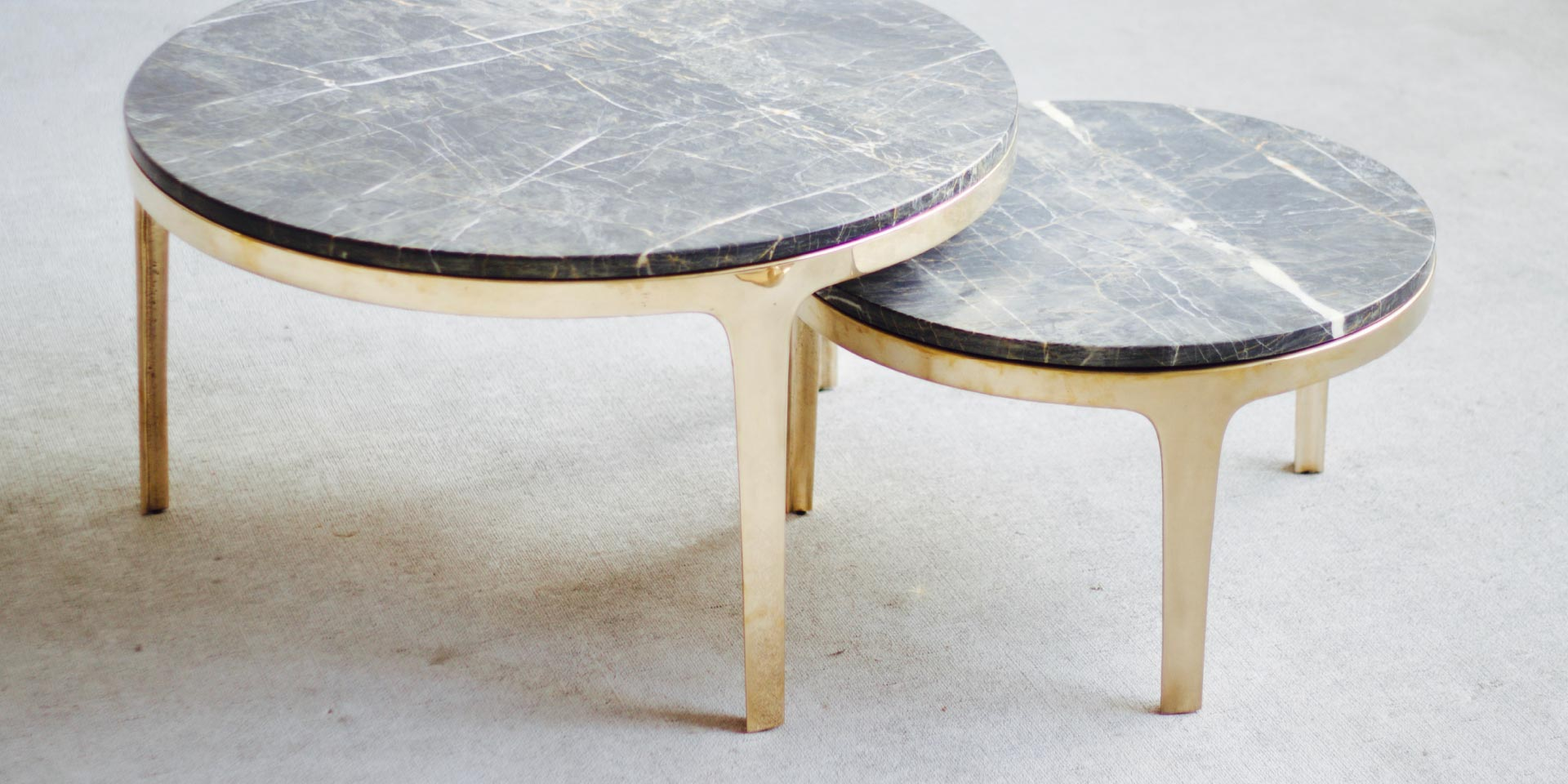 Gallery of bronze round coffee table by barbera local australian furniture lighting object design
