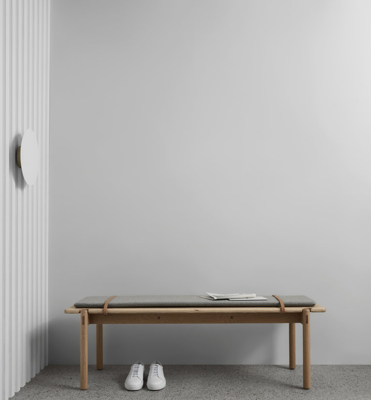 Timber Bench seat made by local designer Made by Morgen