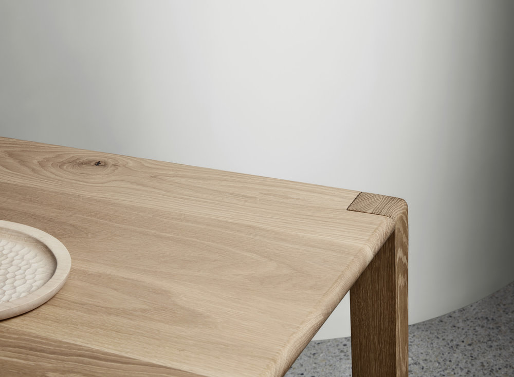 The AOD – T dining table is crafted from sustainably sourced solid American oak timber and is part of the local furniture makers signature range of bespoke contemporary dining tables.