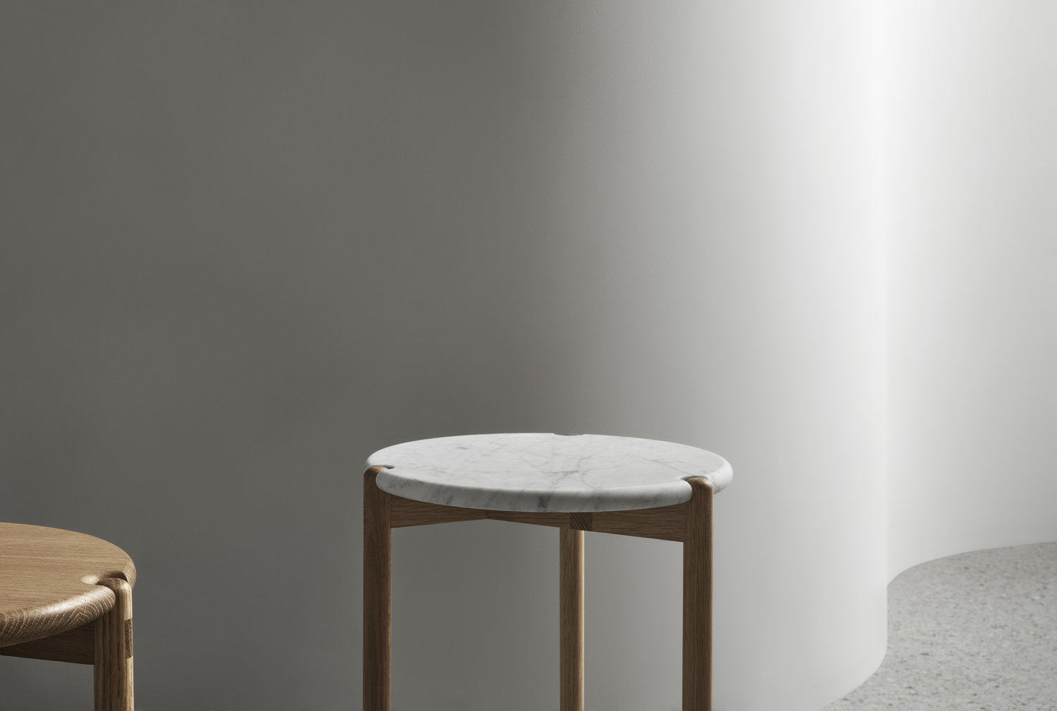 The AOS – T Side Table is designed and made locally by Brunswick (Melbourne, Victoria) furniture designer Nicholas McDonald of Made by Morgen.