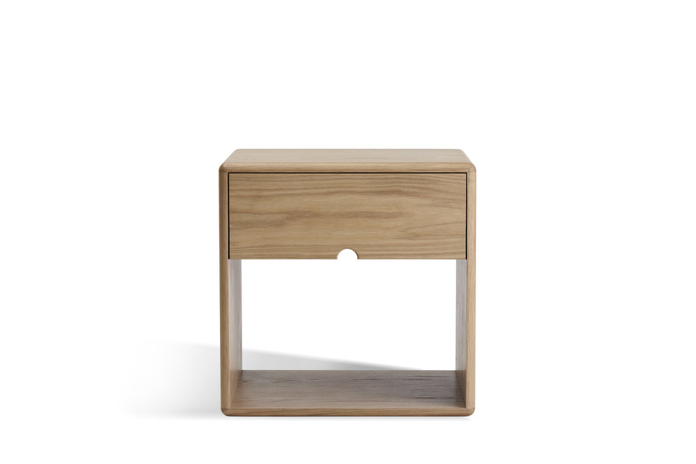 The LIL Bedside Table is designed and made by Brunswick-based Australian furniture designer Made by Morgen.