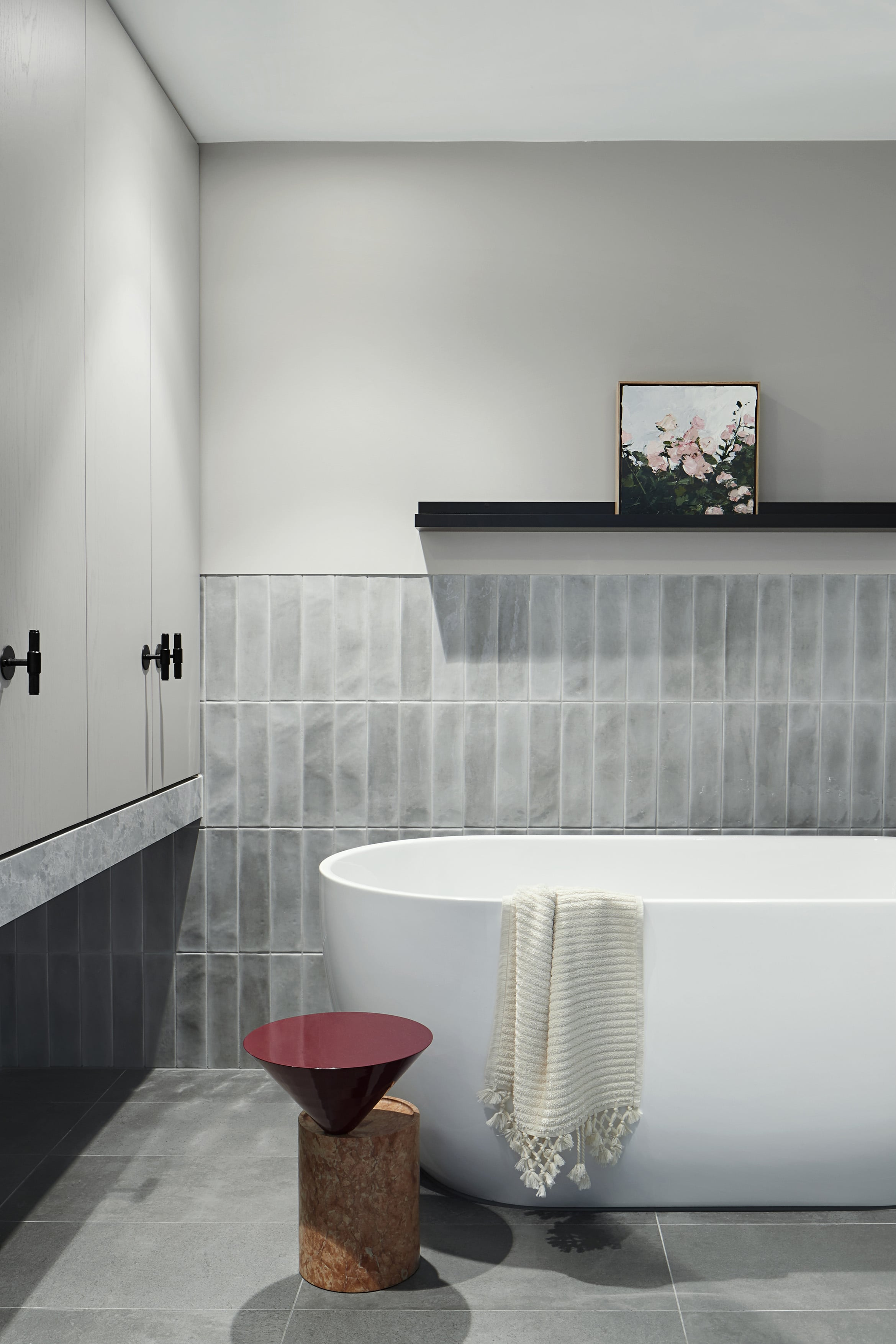 Kew Apartment by Sarah Wolfendale - Interior Bathroom Tiles Melbourne Design