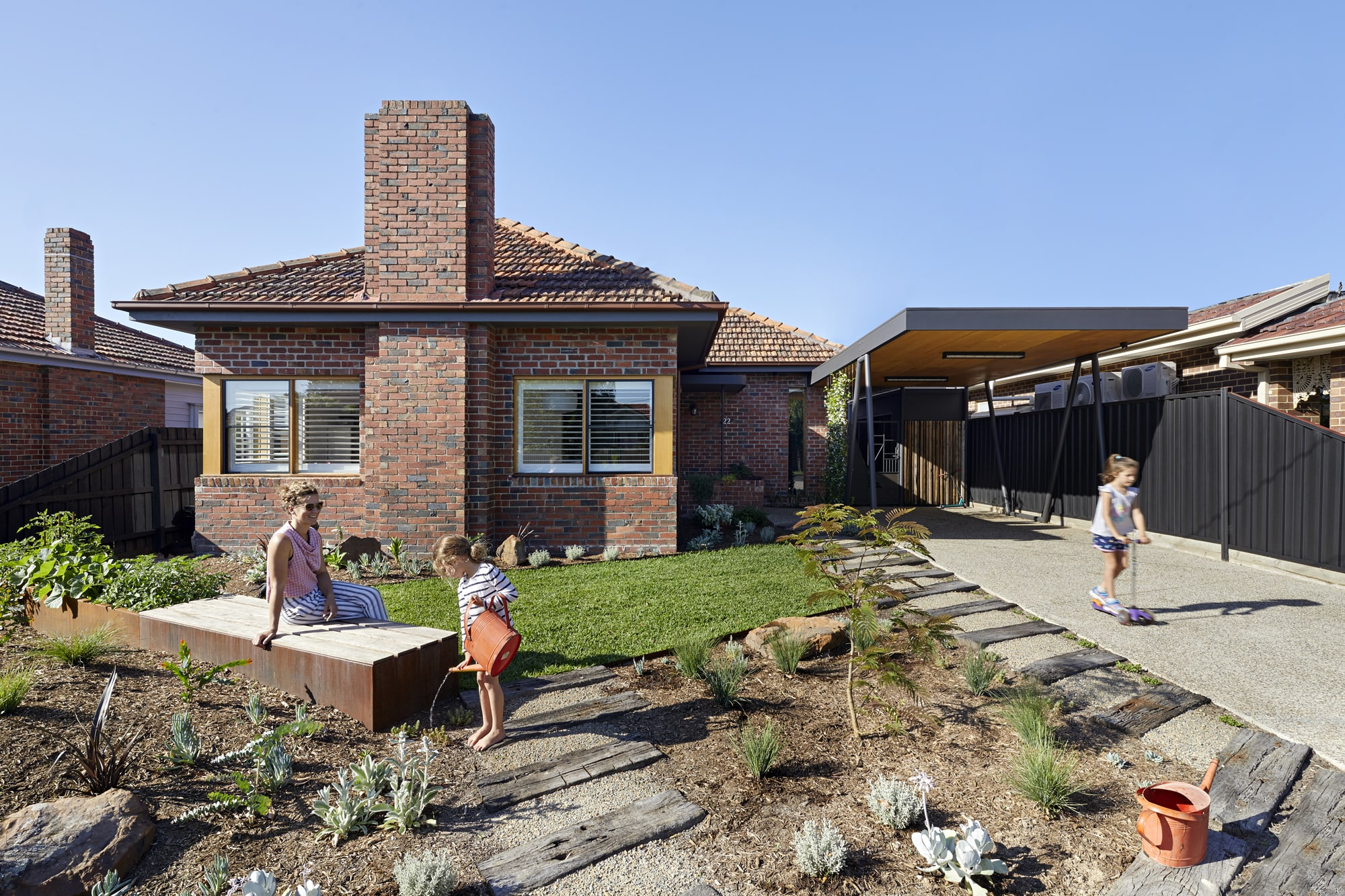 Brick Paving Also Crosses The Threshold Between Inside And Out, Further Blurring The Boundaries.