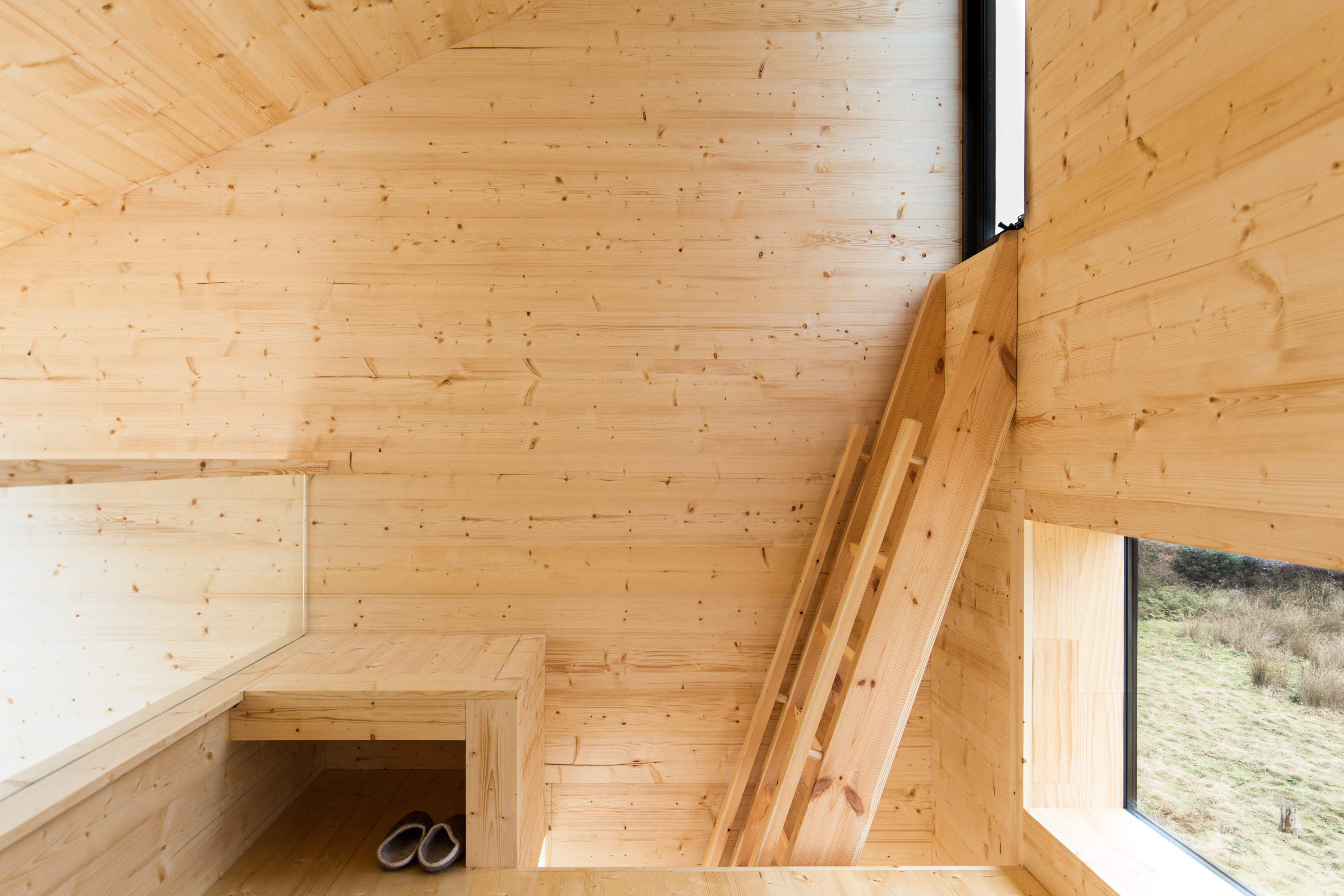 This Off Grid Modern Day Log Cabin Draws Inspiration From The Client's Past, Who Was Born In Taiwan And Grew Up Experiencing Japanese Architect