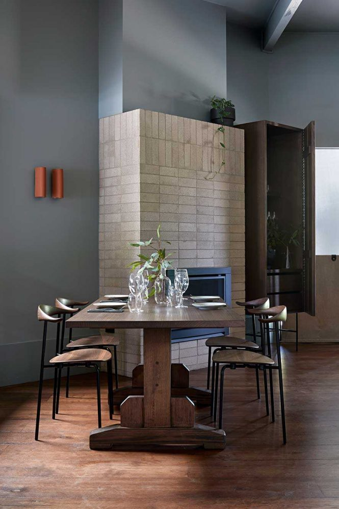 Bringing The Beauty Of The Surrounds Inward Through Textural Brick, Terrazzo And Rich Timber Elements.