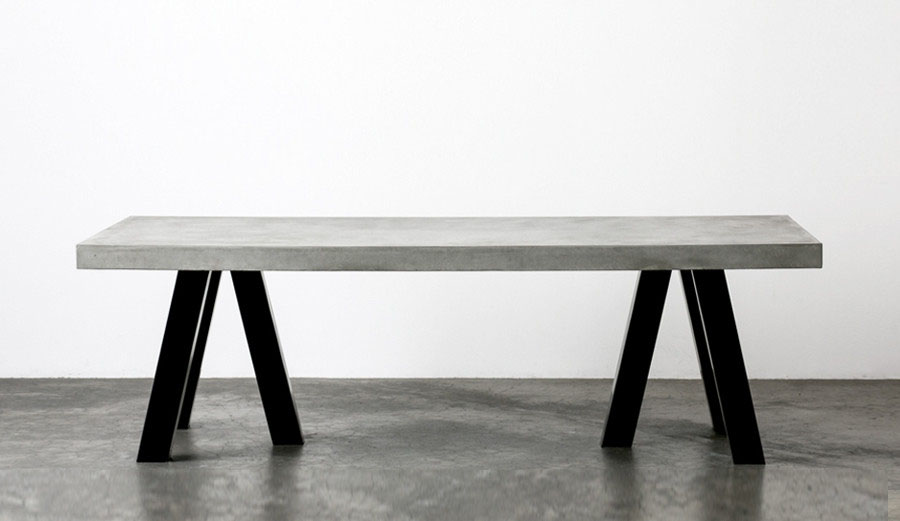 Custom Fitted Concrete U0026 Stainless Steel Table Part 36