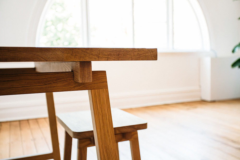 Wooden Stoke Desk - American Oak Timber Tables - The Local Project