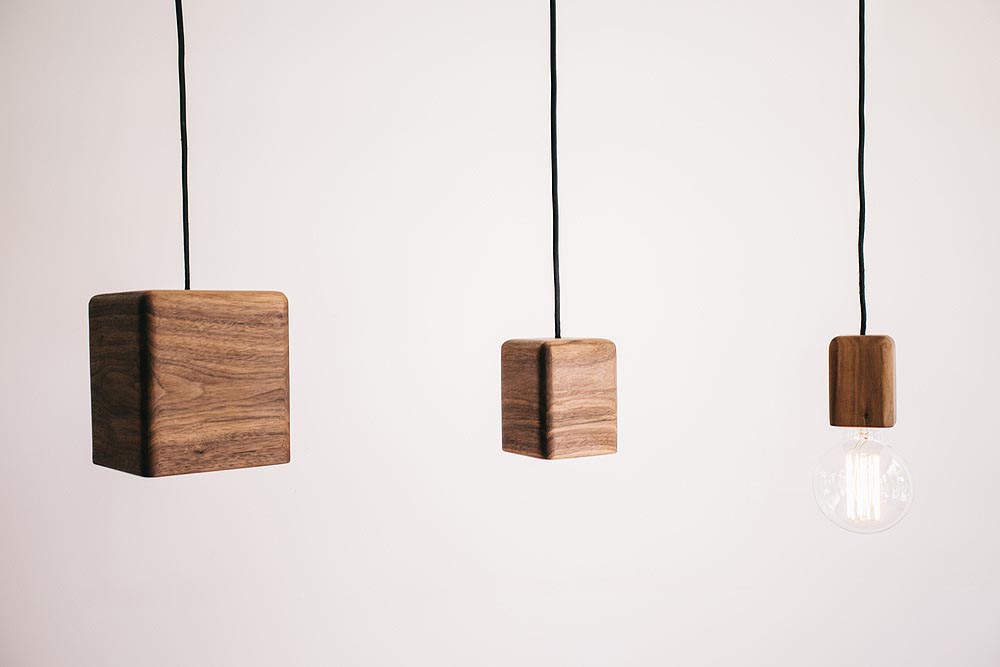 Bodhi Pendant Lights Sustainable Wooden Feature Lighting