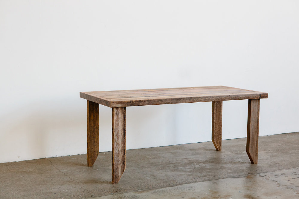 benefield dining table solid recycled timber