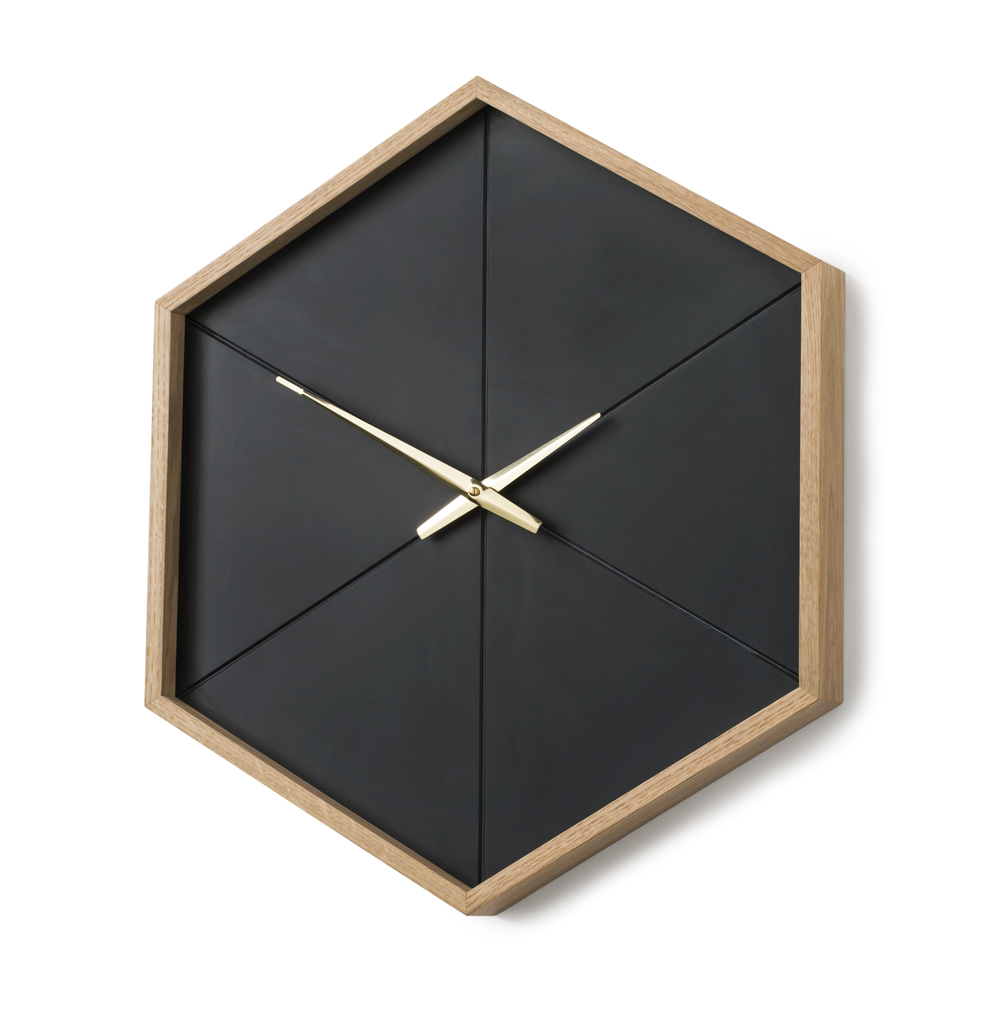 Onesixth wall clock american white oak brass modern clock by roy onesixth wall clock stephen roy furniture design image gallery amipublicfo Choice Image