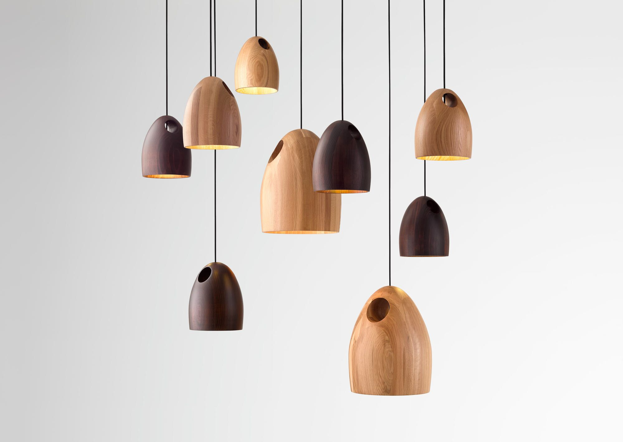 oak pendant light by ross gardam design archive
